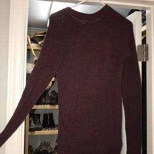 lululemon athletica Sweaters - Lululemon burgundy sweater size 4